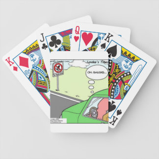 Funny No Squid Zone Bicycle Playing Cards