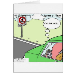 Funny No Squid Zone Card