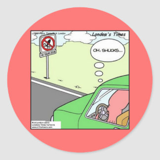 Funny No Squid Zone Classic Round Sticker