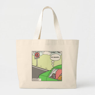 Funny No Squid Zone Large Tote Bag