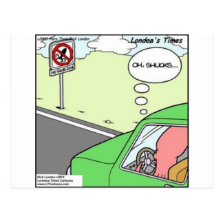 Funny No Squid Zone Postcard
