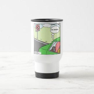 Funny No Squid Zone Travel Mug