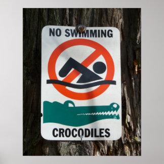 Funny NO SWIMMING Warning Sign