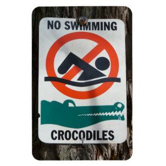 Funny NO SWIMMING Warning Sign Magnets