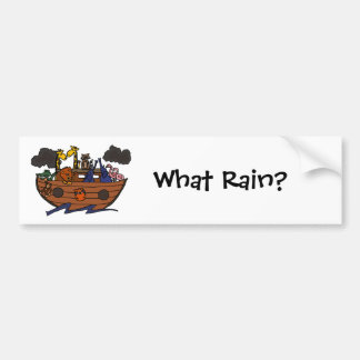 Funny Noah's Ark Cartoon Bumper Sticker
