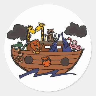 Funny Noah's Ark Cartoon Stickers
