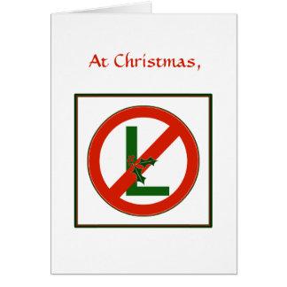 "Funny Noel ""No L"" Christmas  Card"