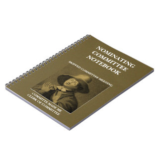 Funny Nominating Committee Quaker Meme Notebook