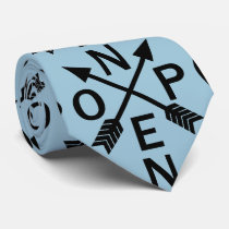 Funny Nope Typography Arrow Design Tie
