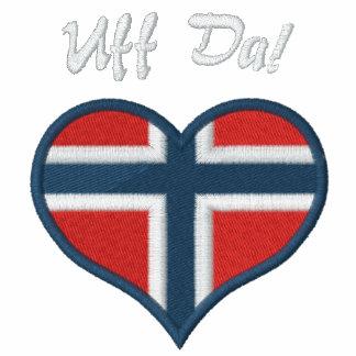 Funny Norwegian Uff Da with Heart  Flag of Norway Hoodies