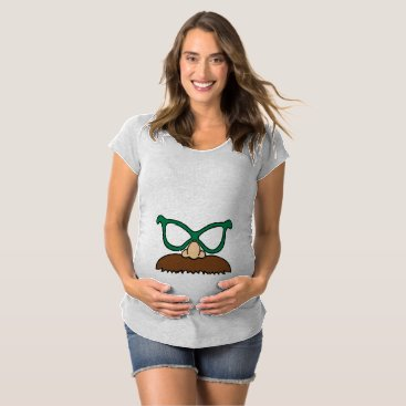 Halloween Themed Funny Nose, Mustache and Glasses Halloween Costume Maternity T-Shirt