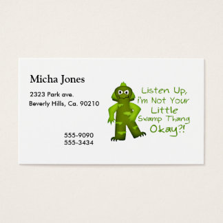 Funny Not Your Little Swamp Thang Monster Business Card
