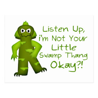 Funny Not Your Little Swamp Thang Monster Postcard