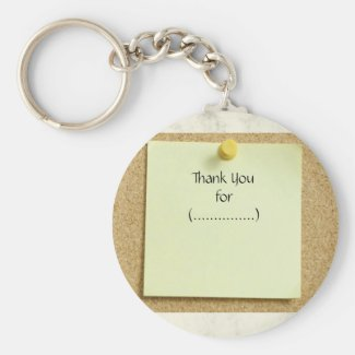 Funny Note Thank You Keychain