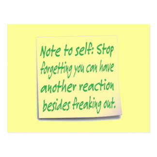 Funny Note to Self Postcard