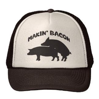 Funny novelty bacon hat