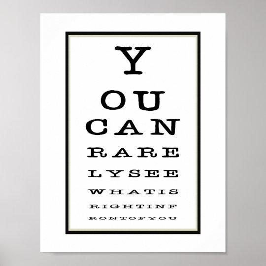 Funny Novelty Eye Test Chart Typography Zazzle