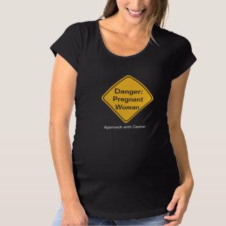 Funny Novelty Maternity Pregnancy T Shirt - Danger