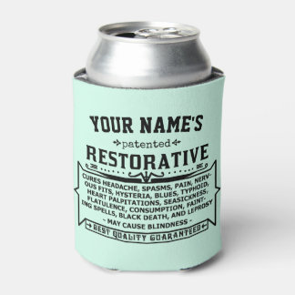 Funny Novelty Personalized Cure-All Vintage Custom Can Cooler