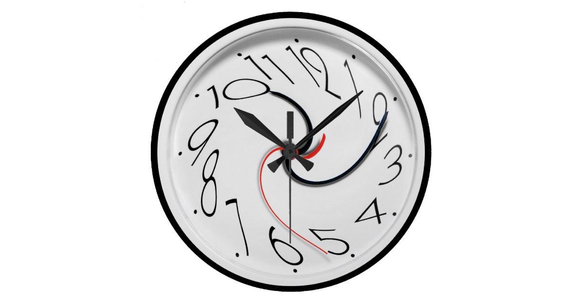 Funny Novelty Style Large Clock Zazzle Com