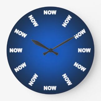 Funny Now Clock (Blue)