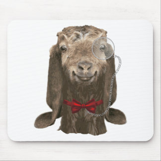 Funny Nubian Goat With Monocle Mouse Pad