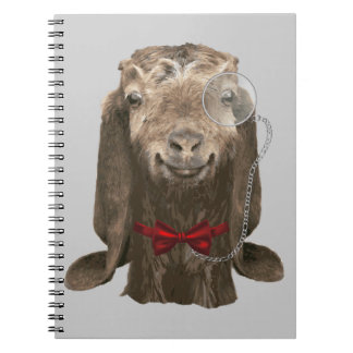 Funny Nubian Goat With Monocle Notebook