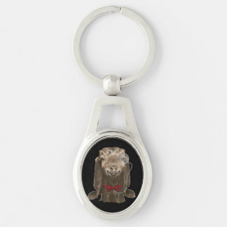 Funny Nubian Goat With Monocle Key Chains