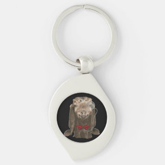 Funny Nubian Goat With Monocle Key Chain