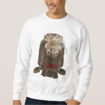 Funny Nubian Goat with Monocle Sweatshirt