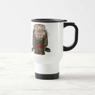 Funny Nubian Goat With Monocle Travel Mug