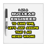 Funny Nuclear Engineer T-Shirts and Gifts Dry Erase Board