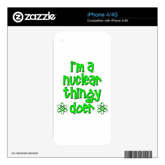 funny nuclear iPhone 4 decal