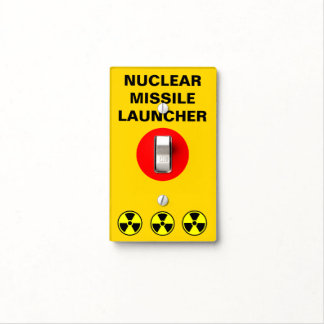 "Funny ""Nuclear Option"" Light Switch Cover"