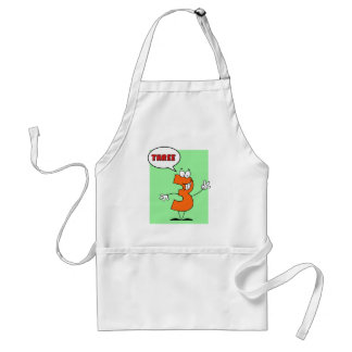 Funny Number Guy Three With Speech Bubble Adult Apron