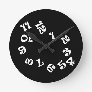 Funny Numbers Wall Clock