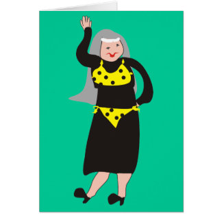 """Funny Nun Cards """"Bikini"""""""