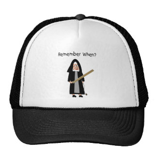 """Funny Nun Cards :Nuns Carried Rulers"""" Trucker Hat"""