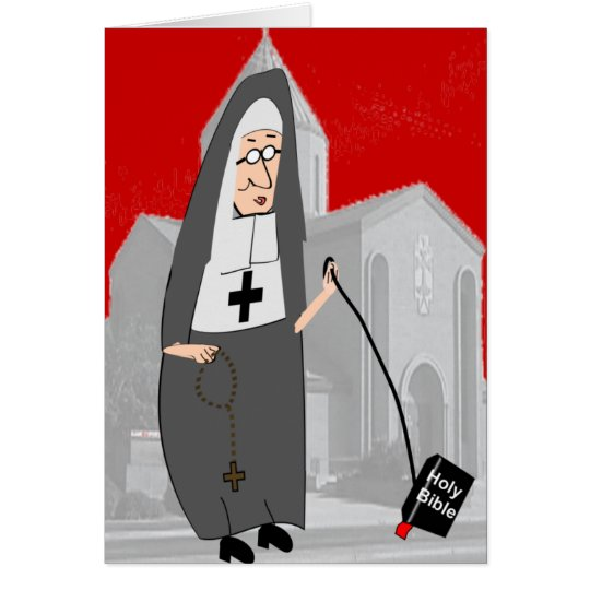 Funny nun greeting cards zazzle funny nun greeting cards m4hsunfo