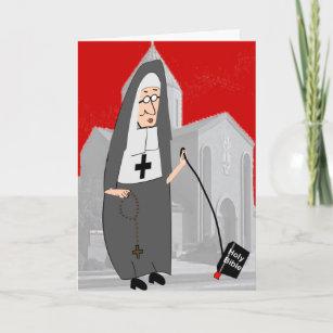 Funny nun birthday cards zazzle funny nun greeting cards m4hsunfo