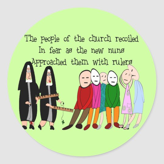 Funny Nuns Cards and Gifts Classic Round Sticker