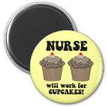 Funny nurse fridge magnet