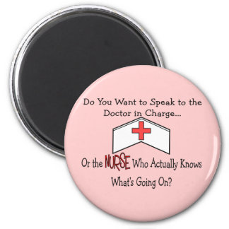 Funny Nurse Gifts 2 Inch Round Magnet