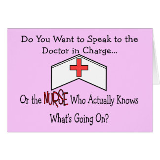 Funny Nurse Gifts Greeting Card