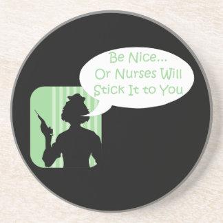 Funny Nurse Humor Sandstone Coaster