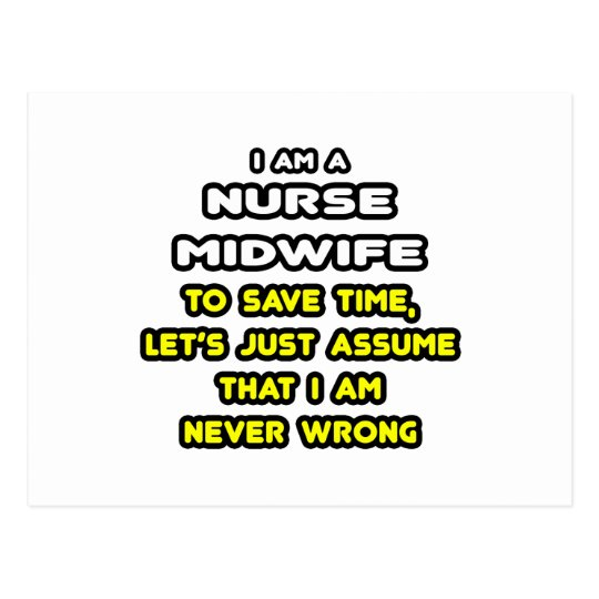 Funny Nurse Midwife T-Shirts and Gifts Postcard