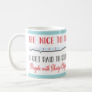 Funny Nurse Or Doctor Medical Needle Mug by McBooboo at Zazzle