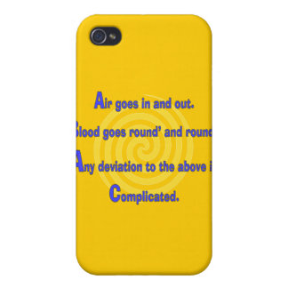 Funny Nurse or Respiratory Therapy Gifts Cover For iPhone 4