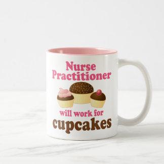 Funny Nurse Practitioner Two-Tone Coffee Mug