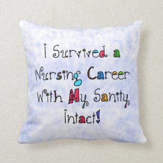 Funny Nurse Retirement Pillow